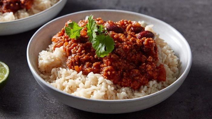 Vegaani Chilli Non Carne | Proteiinipitoista Meal Preppausta