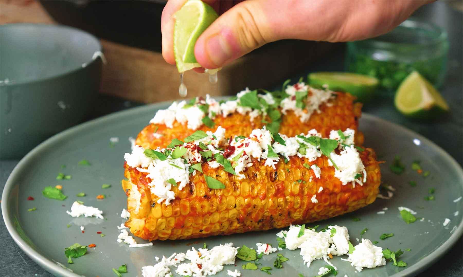 Meksikolainen grillattu maissi Resepti