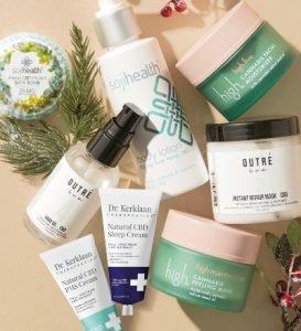 CBD products for the holiday season at lookfantastic!