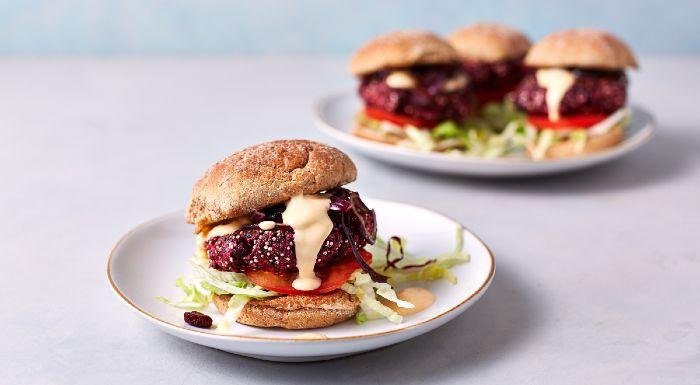 Burger Vegan en 15 Minutes |  Burgers BBQ Betterave