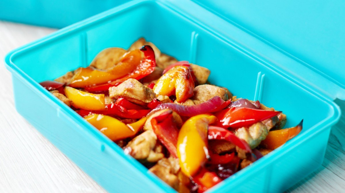 poulet-mariné-poivrons