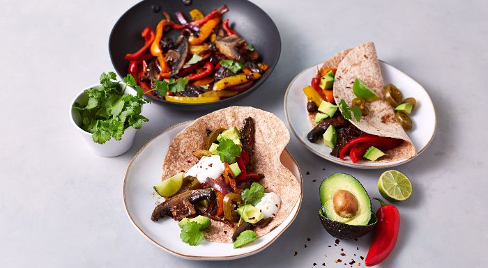 Fajitas Vegan | Recette de Fajitas aux champignons en 15 Minutes