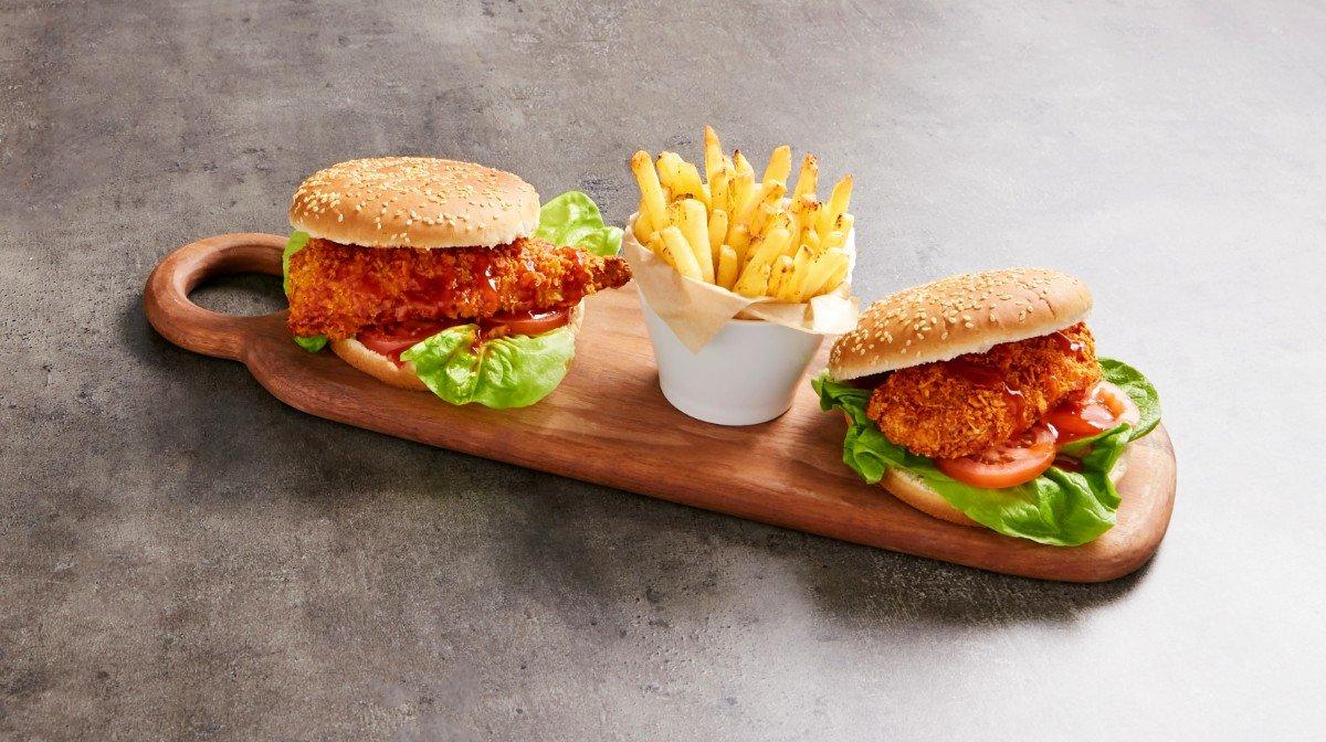 Burger au poulet épicé | Recette du fast food revisitée