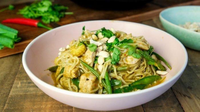 Curry vert thaï aux nouilles | Cuisine facile pour toute la semaine