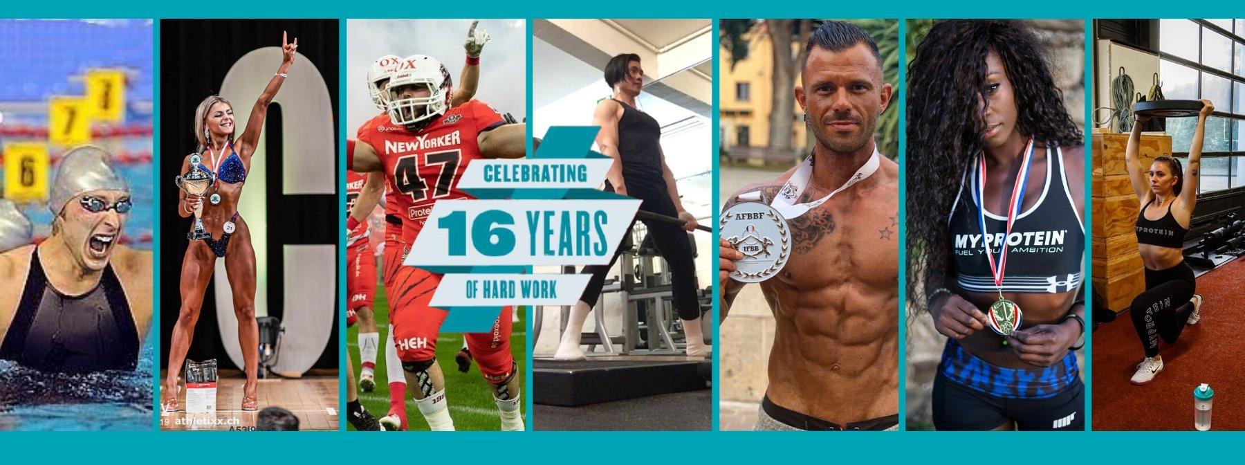 16 ans d'ambitions | Le parcours inspirant des ambassadeurs Myprotein