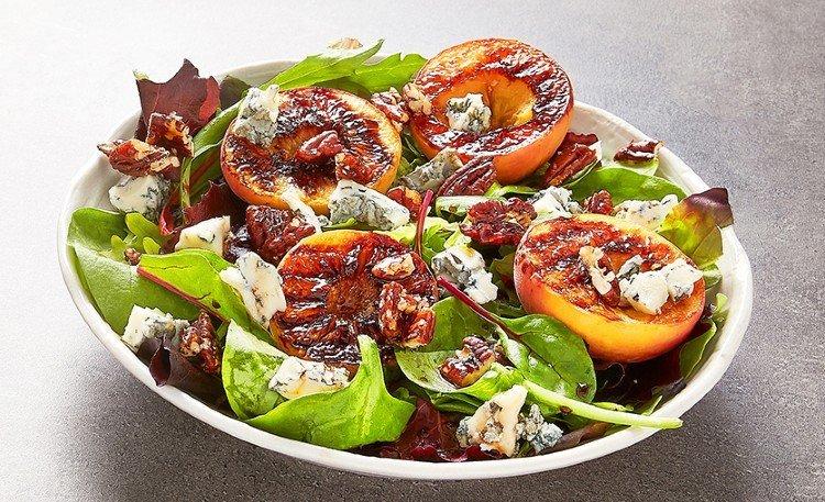 salade peches grillées