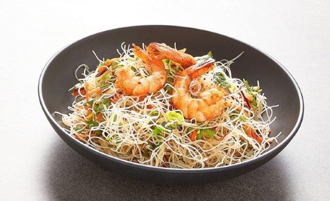 salades crevettes vermicelles