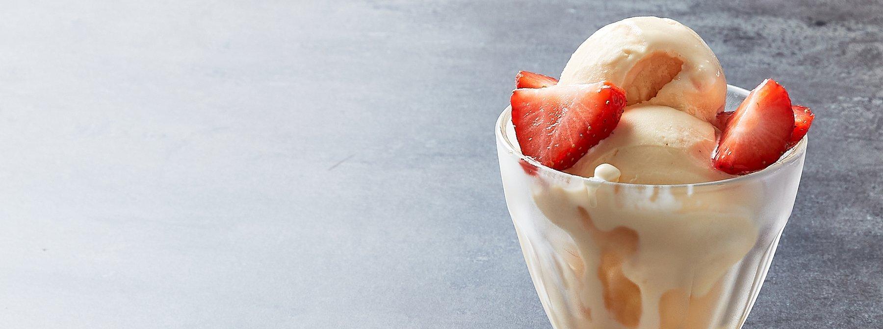 Glace protéinée à la crème brulée | Cuisine du monde