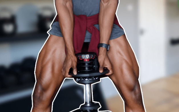 Entraînement des jambes avec haltères