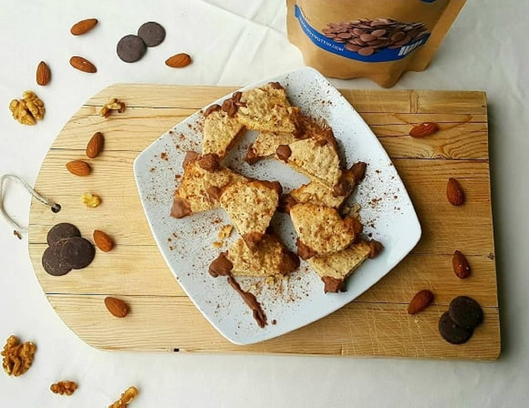 Gesund Backen | Proteinreiche Nussecken