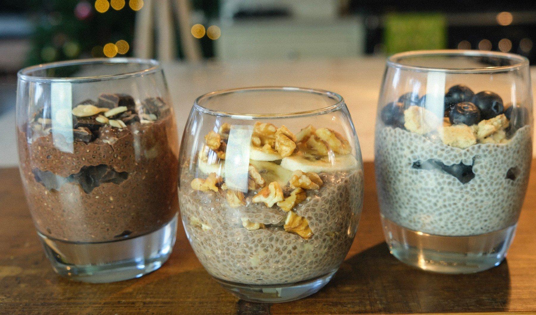 Chia Pudding Dreierlei | Ein schnelles proteinreiches Frühstück