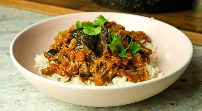 Veganes Auberginen Massala | Schnelle & Einfache Ideen fürs Abendessen