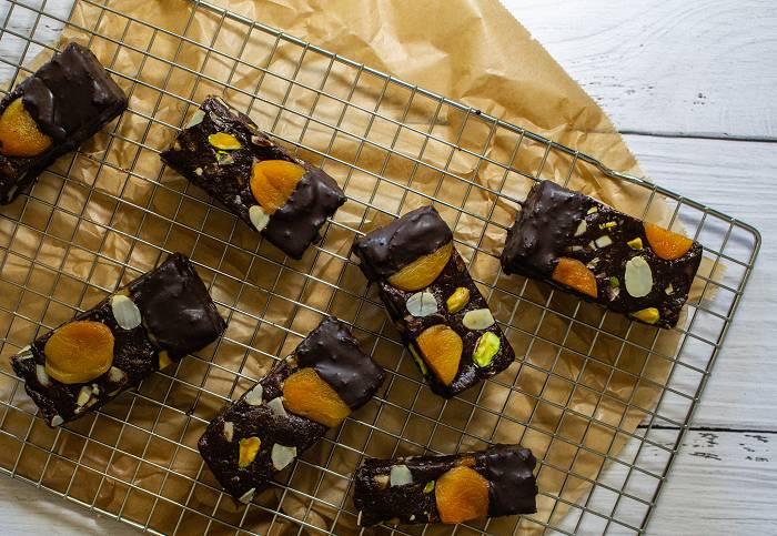 Gooey Erdnussbutter Cookie Riegel