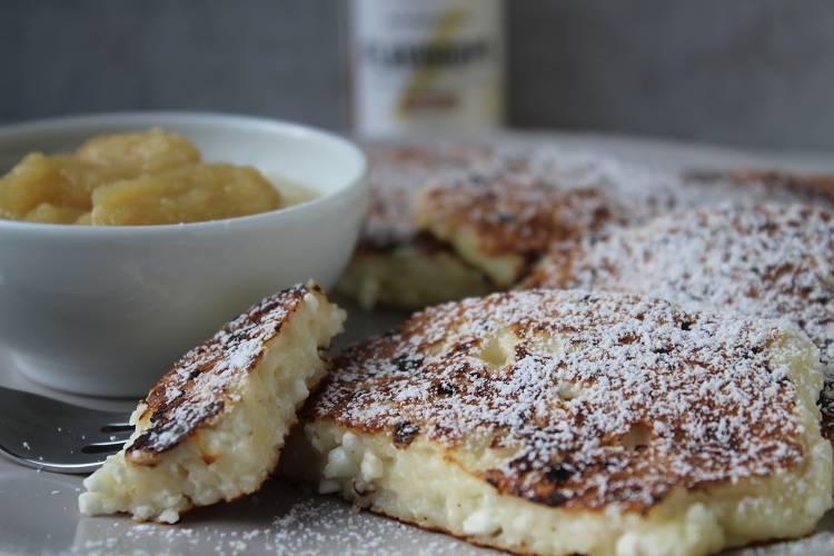 Super-einfache Hüttenkäse Pancakes