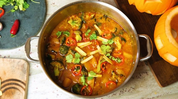 Kürbis Thai Red Curry
