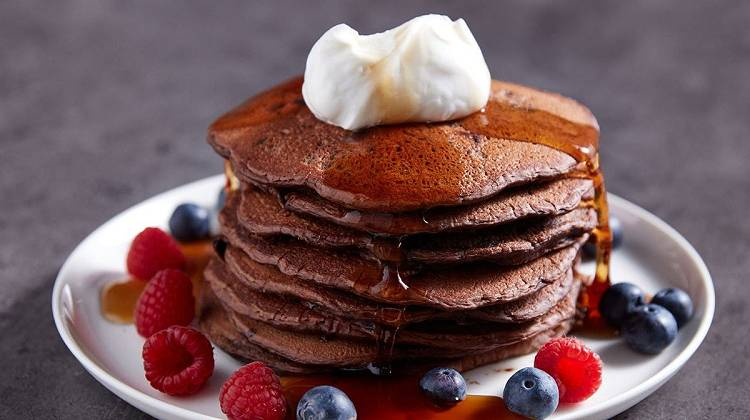 Steph Elswood's Chocolate Chip & Kakao Pancakes