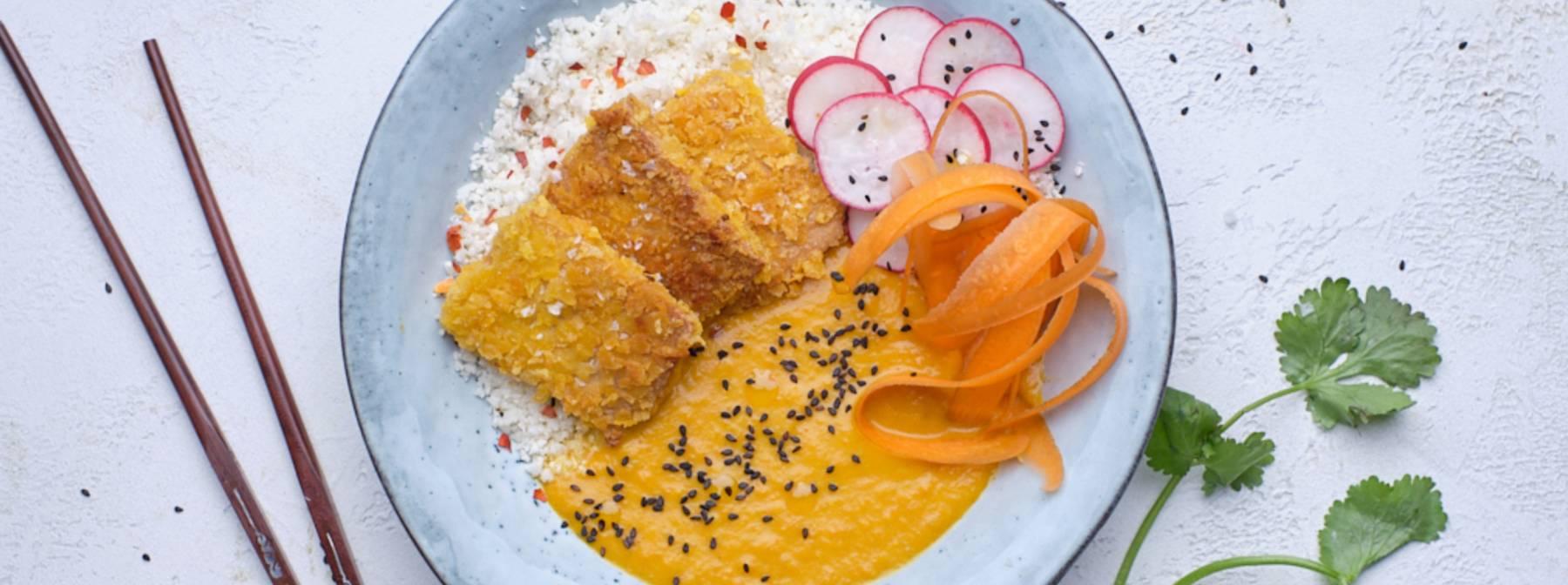 Knuspriger Katsu Curry mit Tofu | 8fit Rezepte