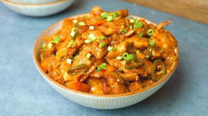 Knoblauch Chili Hähnchen | Köstliches Fakeaway Rezept