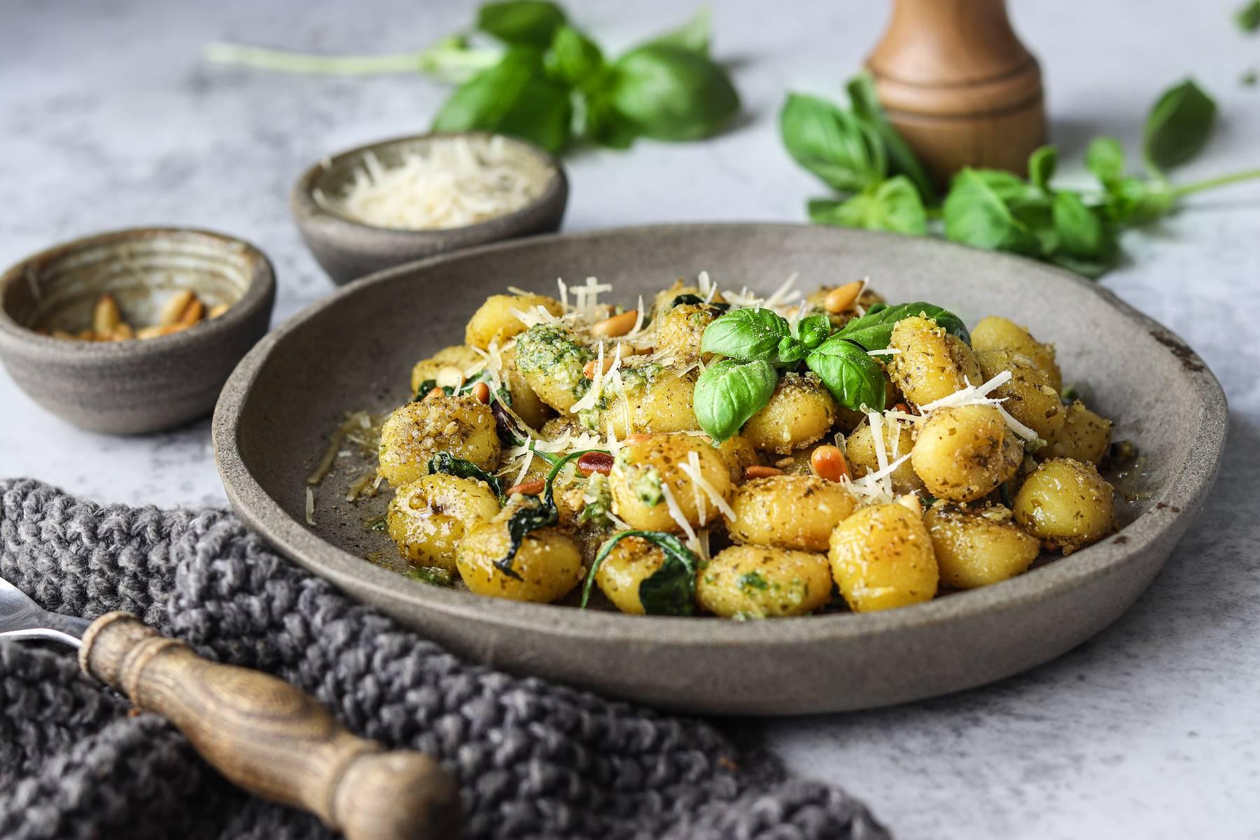 Vegane Pesto Gnocchi