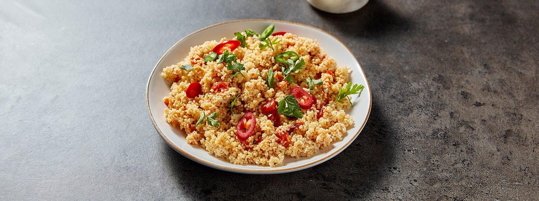 Gebackener Feta mit Couscous | Sommer Meal Prep