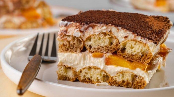 Protein Tiramisu mit Pfirsich | Gesundes Dessert