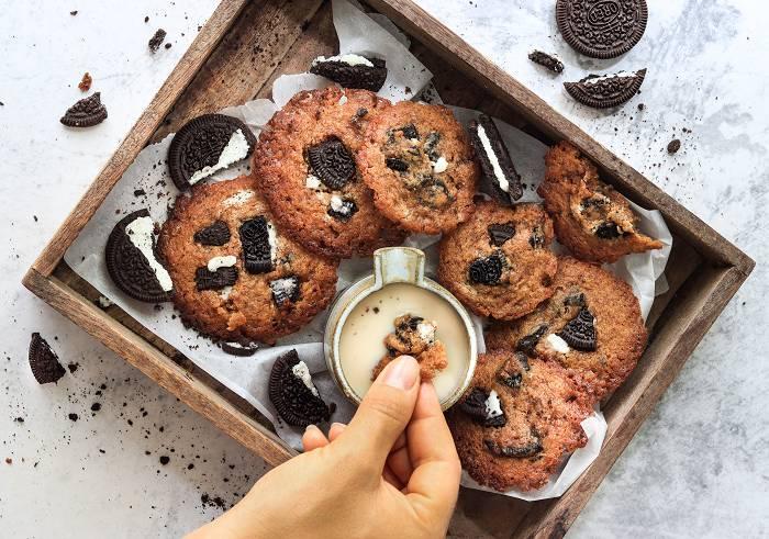 Vegane Oreo Kekse   Gesunder Snack für Zwischendurch