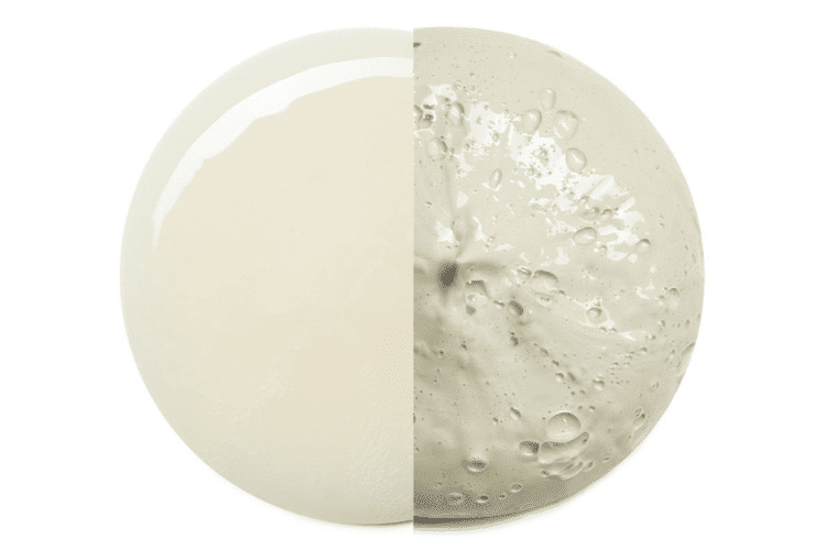 circle product swatch cream and clay