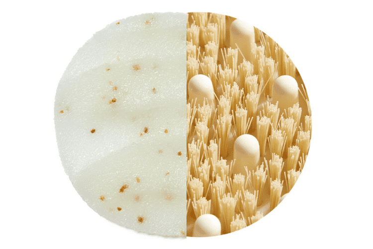 Heavenly Body Purifying Scrub and Dry Body Brush swatches