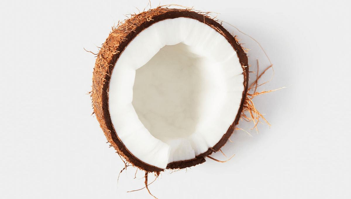 half of a coconut