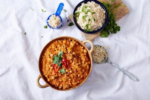 Veganes Indisches Blumenkohl Curry | 15-Minuten Rezept