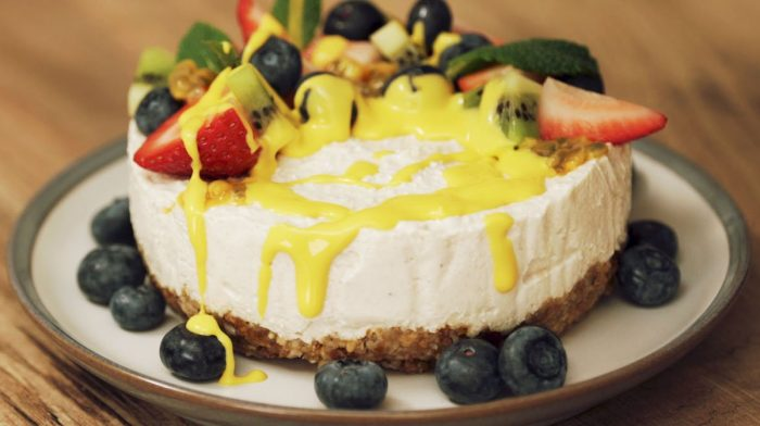 Veganer New York Cheesecake | Ein fruchtiger Omega 3 Boost