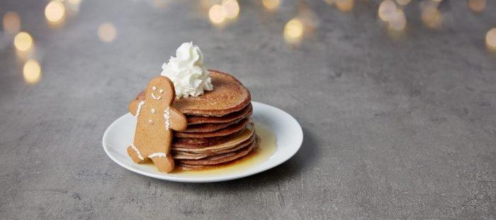 Festliche Protein Pancakes mit Lebkuchengeschmack