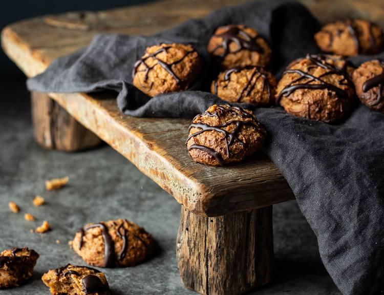 Süßkartoffel Protein Kekse   Gesunde Snacks für Zwischendurch