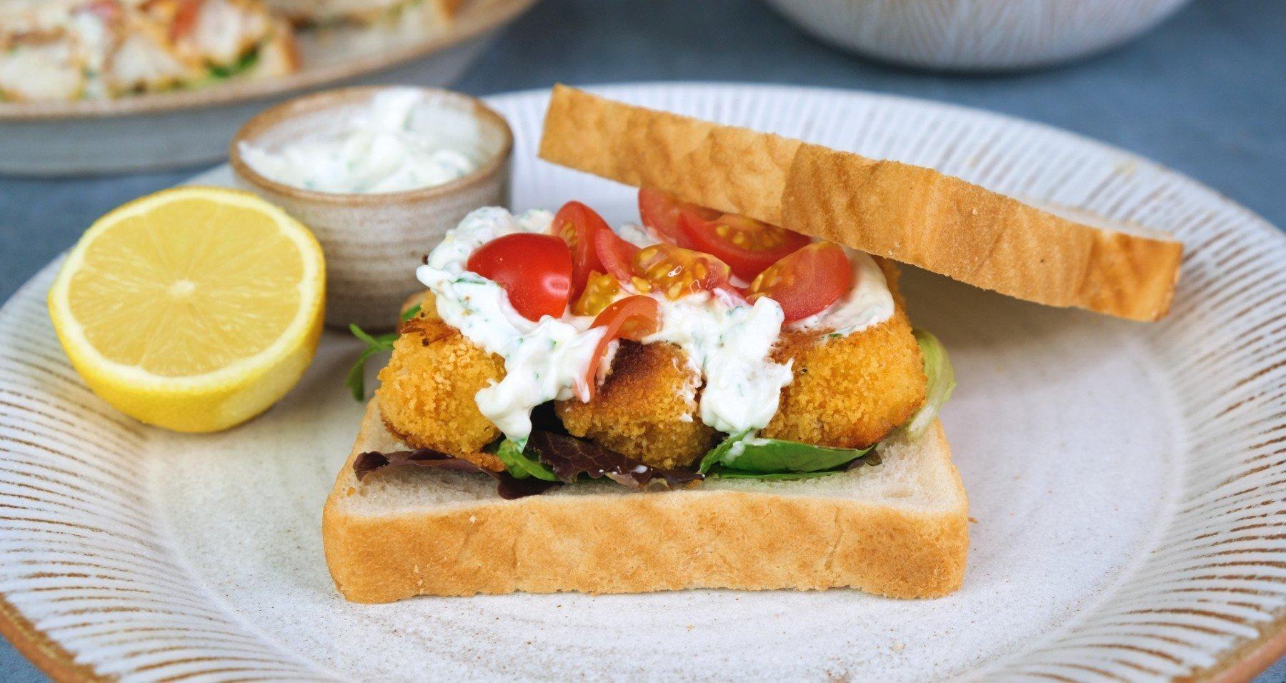 Hausgemachtes Fischfilet Sandwich