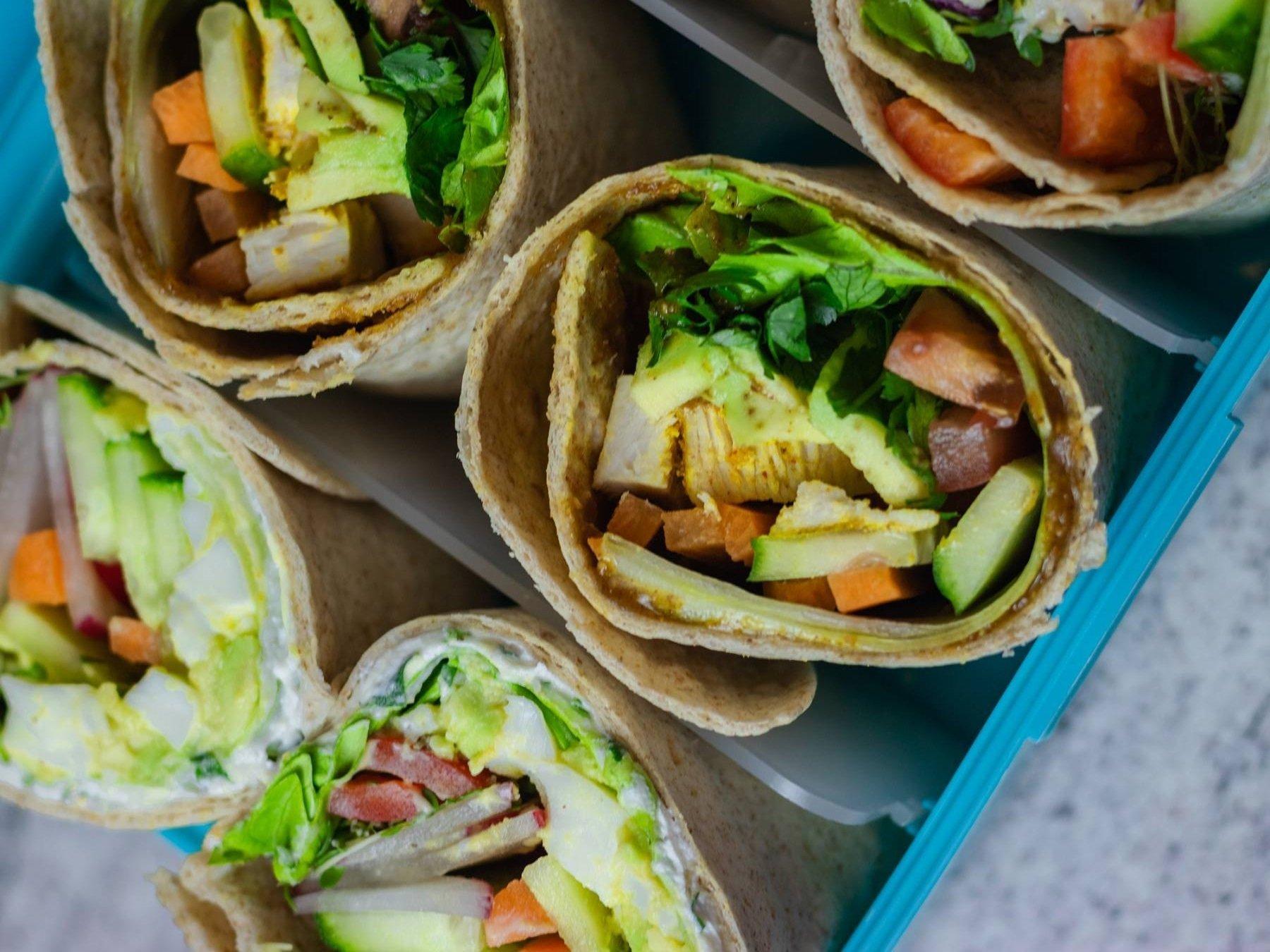 3 Wraps zum Mitnehmen | Meal Prep für unterwegs
