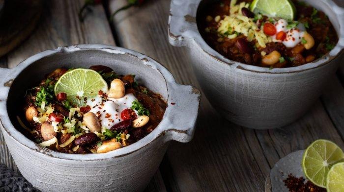 Chili Sin Carne   Veganes Meal Prep