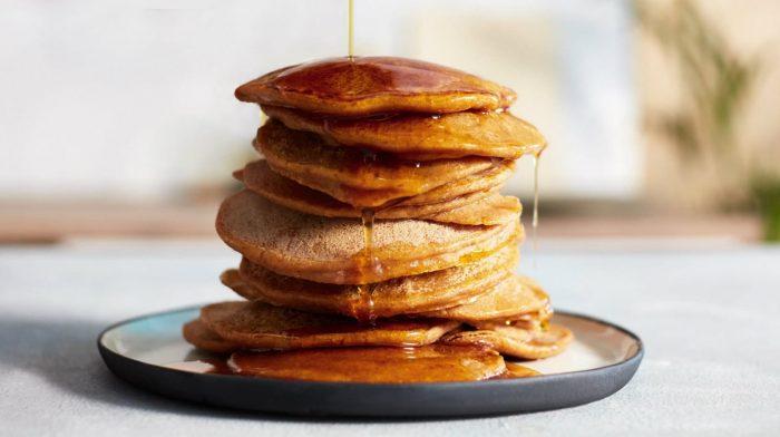 Vegane Kürbis Protein Pancakes
