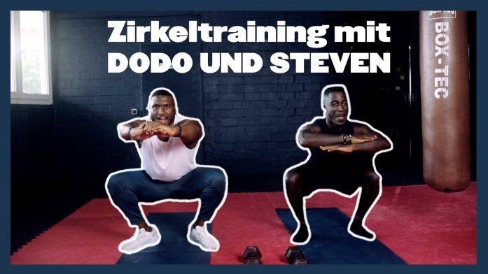 10 Minuten Zirkeltraining mit Steven & Dodo