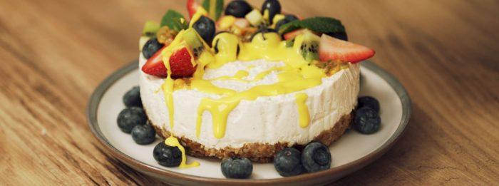 Veganer New York Cheesecake | Ein fruchtiger Omega 3 Boost