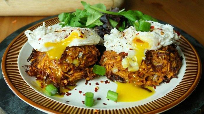 Knusprige Süßkartoffel Röstis | Schnelle & einfache Frühstücksideen