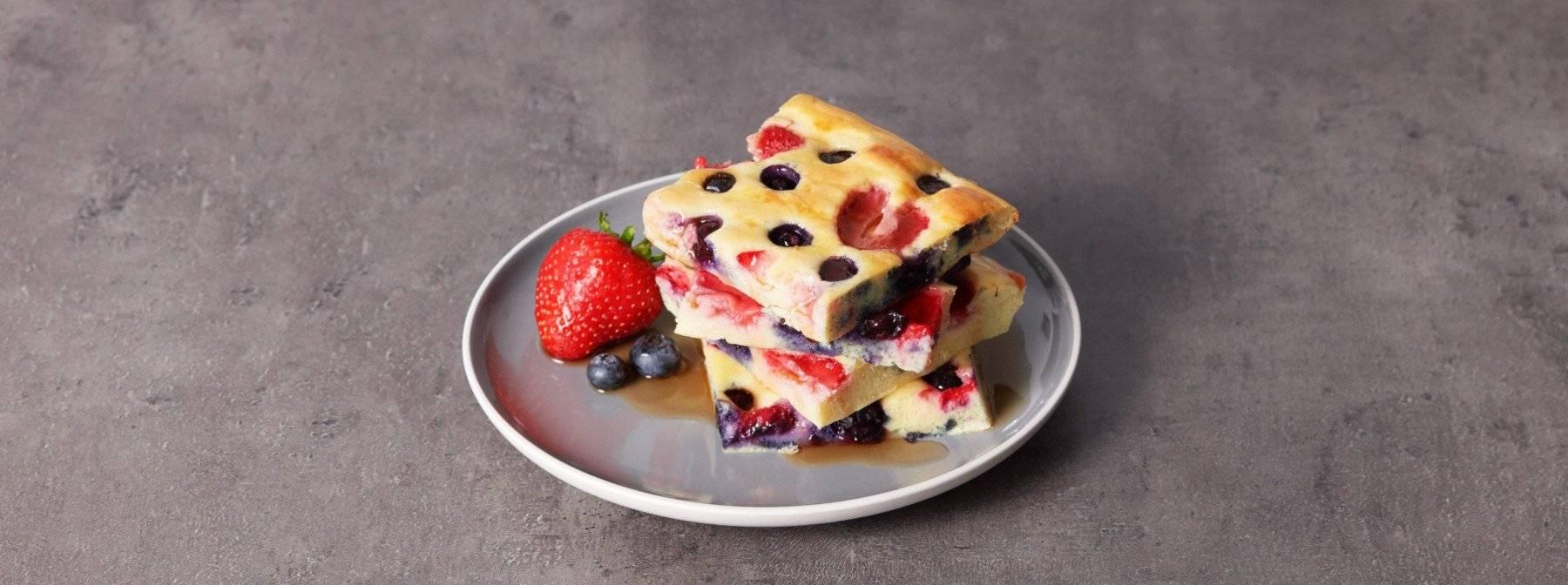 Protein Pancakes vom Backblech | Leicht vorbereitetes Frühstück