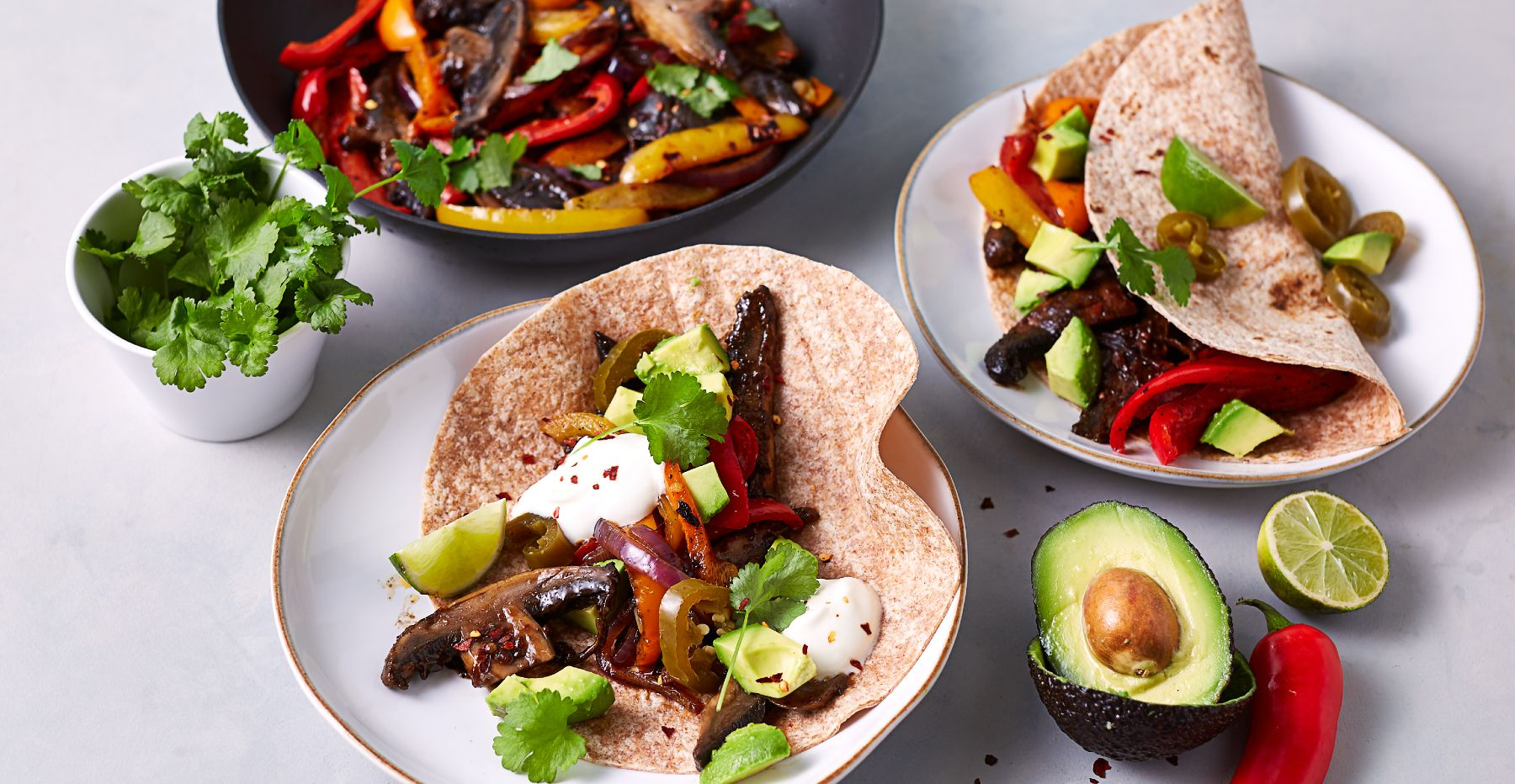 Vegane Fajitas | Ultimative Portobello Fajitas in nur 15 Minuten