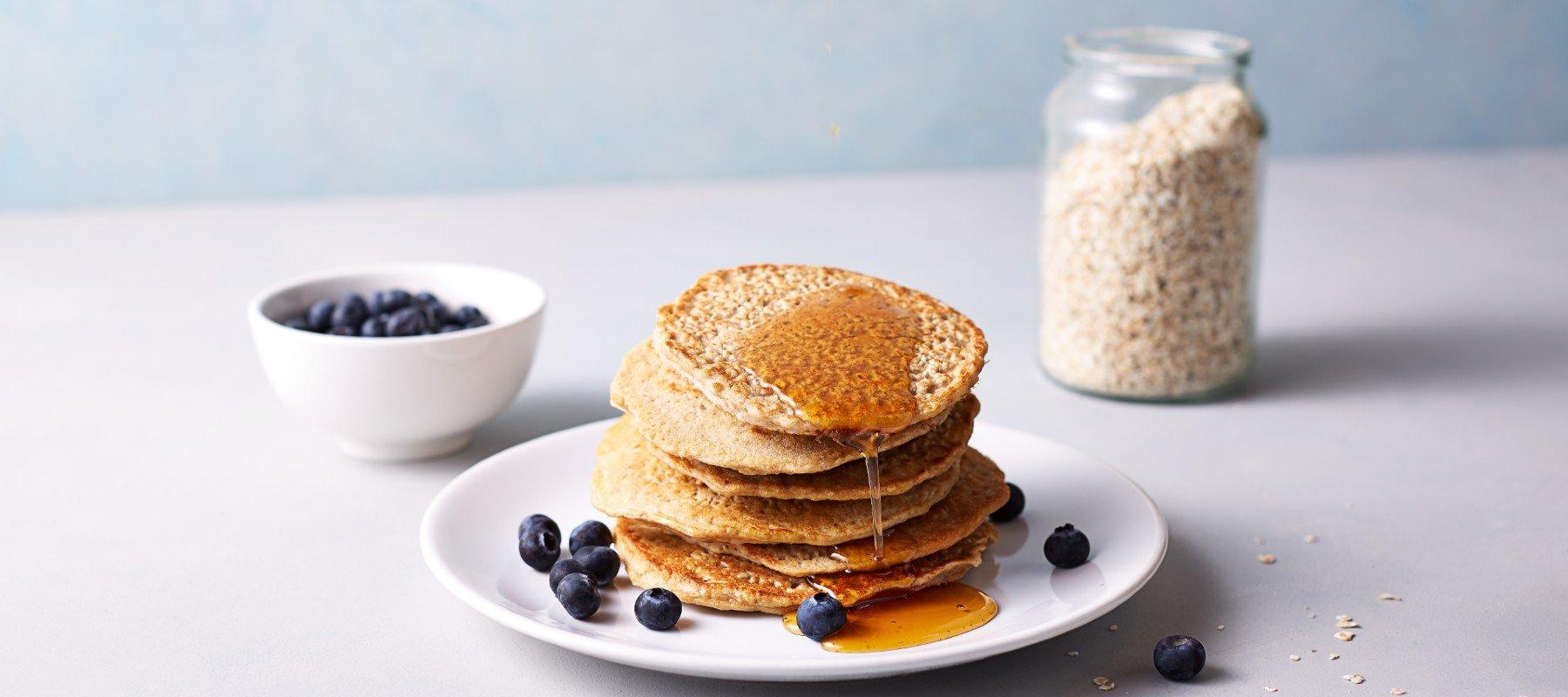 4 Zutaten Bananen Protein Pancakes