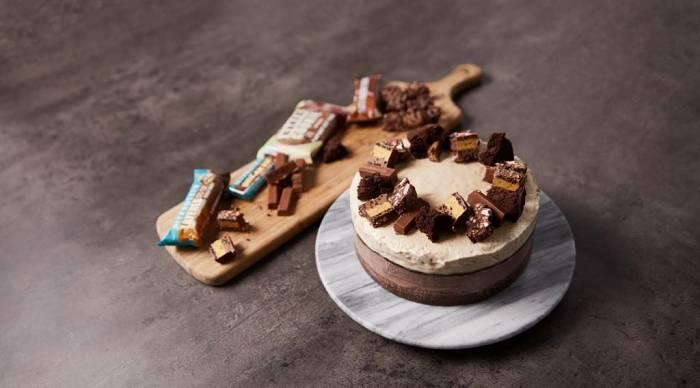 Eiscreme Brownie Schicht-Kuchen