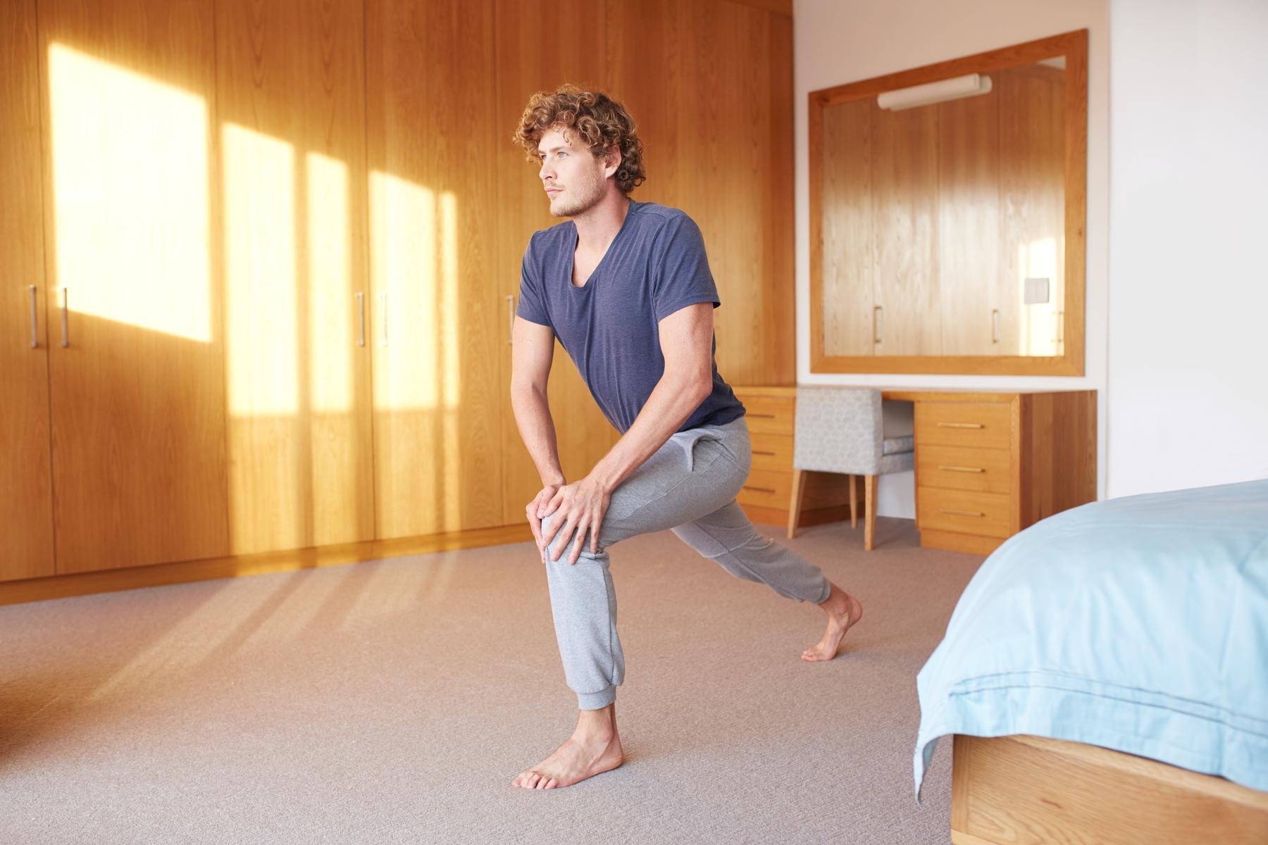 Beinmuskulatur von zu Hause aus aufbauen