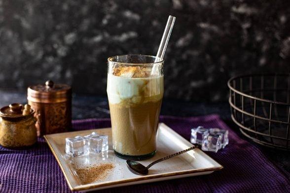 Kaffee Schoko Protein Drink mit Kefir