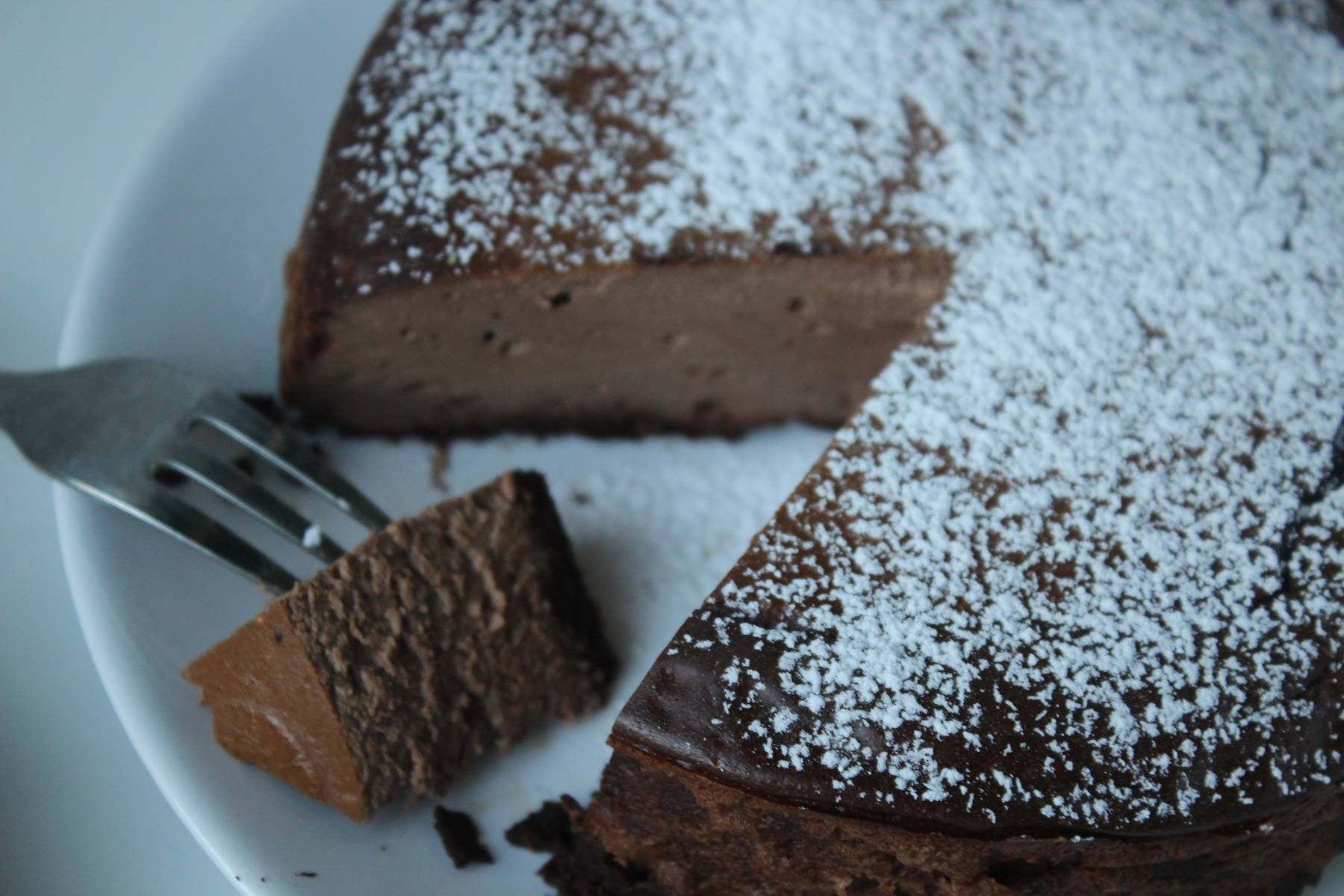 Proteinreicher Schokoladen Käsekuchen