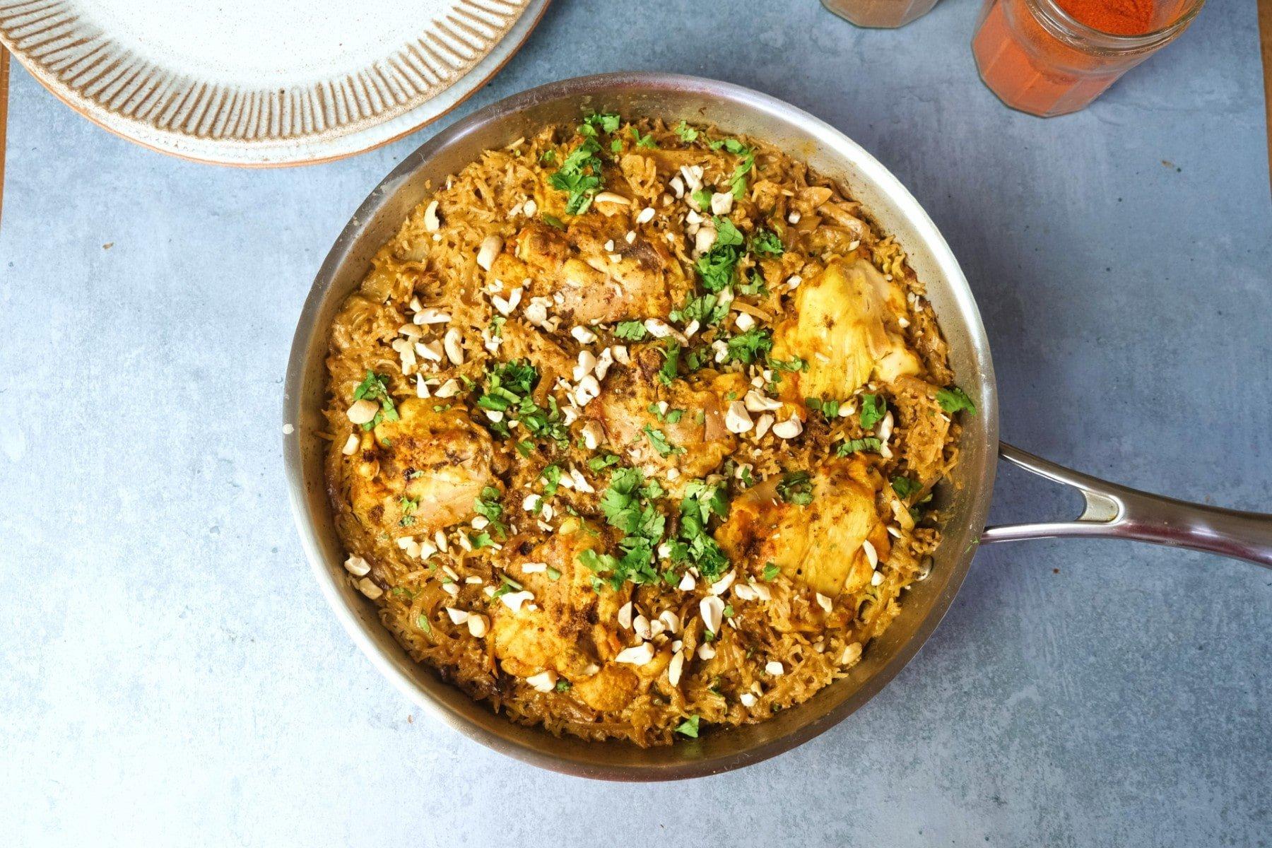 Kokos-Hähnchen & Reis Eintopf | Leichte Meal Prep