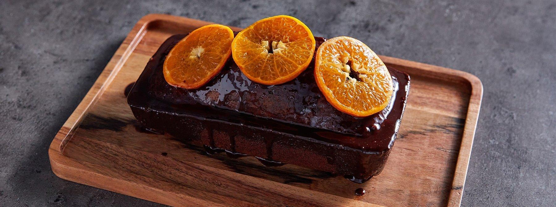 Schokolade-Orange Protein Kuchen