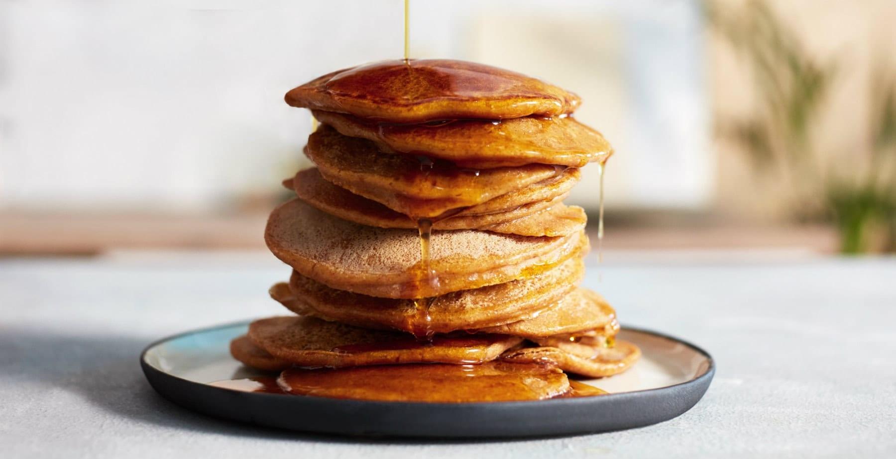 Plant-Based Pumpkin Protein Pancakes